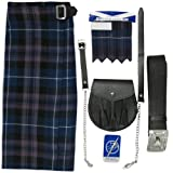 Kilt-Set, Sporran, Nadel & Strumpfband - Tartan Honour of Scotland - UK36 (91cm)