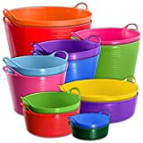 Medium Purple Flexible Strong TubTrugs® Storage Bucket Baskets (ALL COLOURS AND SIZES) & Tigerbox® Antibacterial Pen