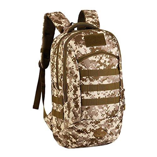 MagiDeal Molle Outdoor Rucksack Erwachsene Taktischer Rucksack 40L Trekkingrucksack Wanderrucksack im Freien Sporttasche, wasserdicht und komfortabel zu tragen, gute Verarbeitung Desert Digital