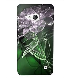 PrintVisa Transparent Floral 3D Hard Polycarbonate Designer Back Case Cover for Microsoft Lumia 550