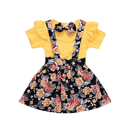 BOBORA Baby Girls Kids Short Sle...