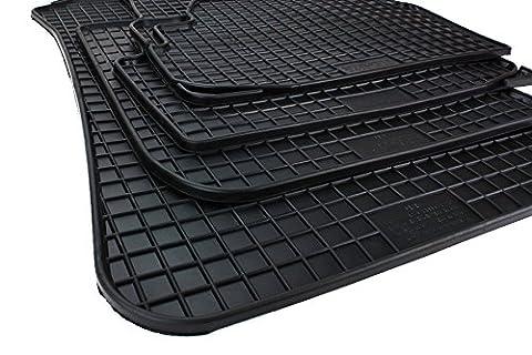 Nouveau! tapis de sol en caoutchouc pour bMW série 1 e81 e82 e87 e88 f20 f21 x1 e84 f22 de 2 tapis de sol en caoutchouc original qualité voiture tapis toutes saisons 4 pièces noir
