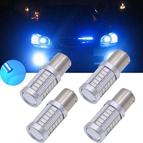 Tuincyn 1156BA15S weiß 563033SMD LED Leuchtmittel 8000K 900Lumen 11417056Helles Licht, Brems-, Standlicht, Blinker Glühbirne, Lampe DC 12V 3,6W, 2Stück (Für Led-brems-lichter Lkws)
