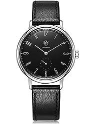 Dufa Deutsche Uhrenfabrik Unisex-Armbanduhr Analog Quarz Leder Walter Gropius DF-9001-01