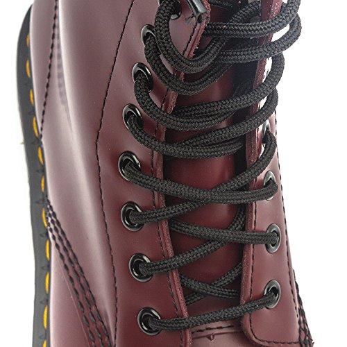 Dr. Martens 1460 Smooth, Scarpe Stringate Basse Brogue Unisex – Adulto Rosso