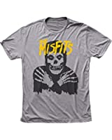 The Misfits - - Klassik-Schädel (gelbes Logo) Men's T-Shirt in Tri-Blend