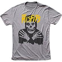 The Misfits - - Klassik-Schädel (gelbes Logo) Men's T-Shirt in Tri-Blend