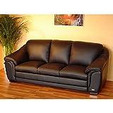 Designer Leder-Sofa-3 Sitzer Garnitur Ledersofa Ledermöbel Couch neu 403-3-S
