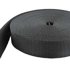 50m PP Gurtband - 10mm breit - 1,4mm stark - schwarz (UV)