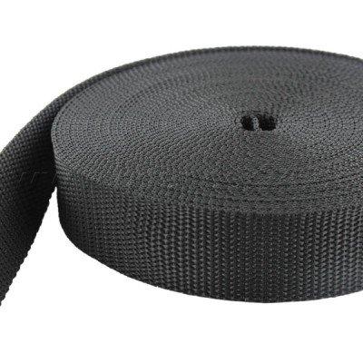 10m PP Gurtband - 40mm breit - 1,4mm stark - schwarz (UV)