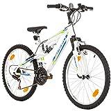 """24"""" pollici, CoollooK, SPEED, Unisex, Mauntain Bike, Full Suspension, SHIMANO 18 velocità Bianco"""
