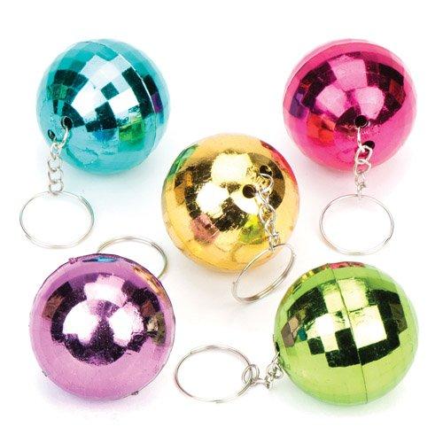 Schlüsselanhänger mit glitzernder Discokugel als lustiges Spielzeug für Kinder zum günstigen Preis – perfekt als kleine Party-Überraschung...