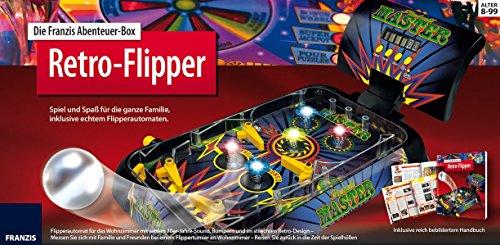 Preisvergleich Produktbild Die Franzis Abenteuer-Box Retro-Flipper: Spiel und Spaß für die ganze Familie, inklusive echtem Flipperautomaten.