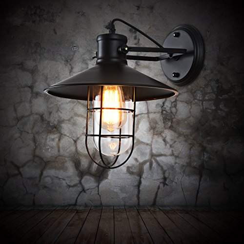 Self-My Wall Lamp The American Retro Industrial Wind Glass