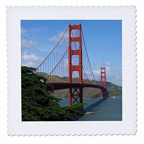 3dRose Golden Gate Bridge San Francisco, Quilt, Platz, 12von 12Zoll (QS 21694_ 4) -