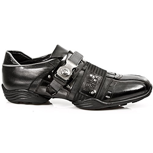 New rock m/8147/s1, sneaker uomo, nero (nero (black)), 43 eu