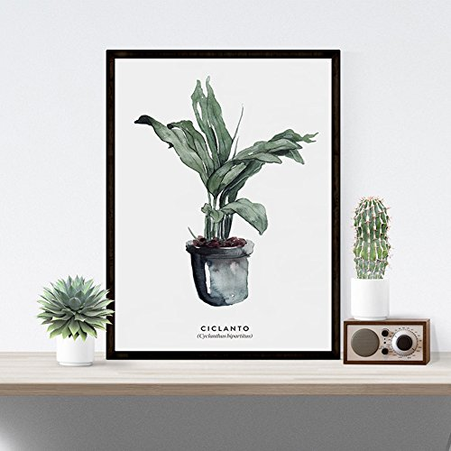 HYLVE Moderne Aquarellpflanze-Grünes Blatt-Malerei-Wohnzimmer-Dekorative Malereien