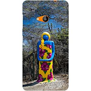 Casotec Woman Art Design Hard Back Case Cover for Microsoft Lumia 535