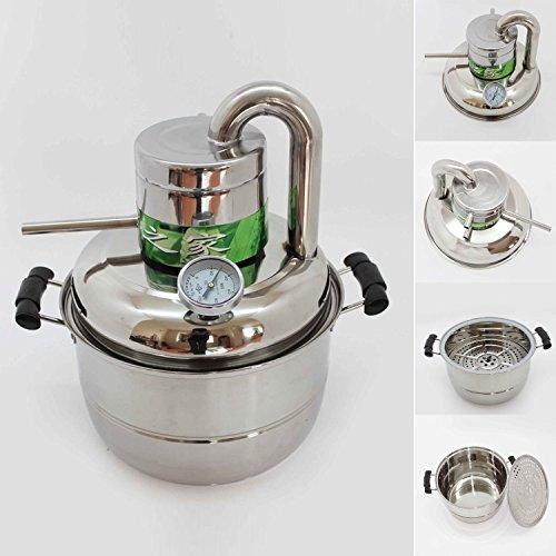Destilliergerät 10 l, Edelstahl, zur Herstellung von Vodka, Brandy, Wein, Spirituosen