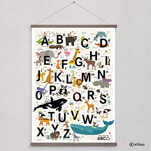 ABC Poster Alphabet Buchstaben Plakat Kinderzimmer - 4