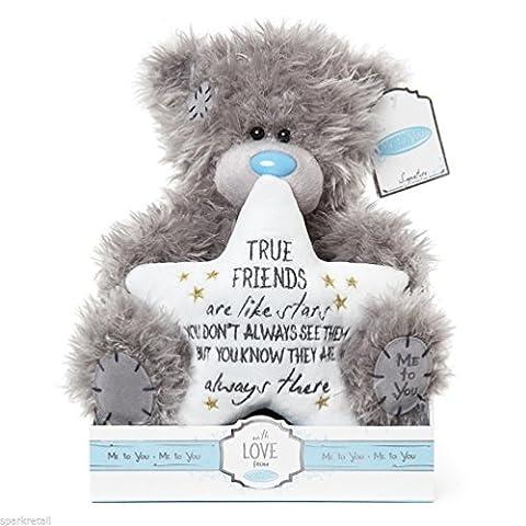 Soft Grey Me To You Medium Plush Tatty Teddy Bear True Friends Always There