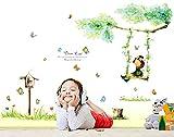 ufengke® Bella Ragazza Che Gioca Su Un'Oscillazione Adesivi Murali, Camera dei Bambini Vivai Adesivi da Parete Removibili/Stickers Murali/Decorazione Murale