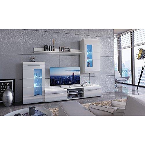 ROLLER Wohnwand IGLESIA 1 – weiß Hochglanz – 235 cm breit - 4