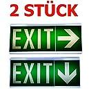 2 pcs luz de emergencia alumbrado de salir de emergencia escape de ruta luz de emergencia salida exit IL