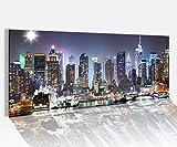 Acrylglasbild 100x40cm Skyline New York Stydt USA Acrylbild Acryl Druck Acrylglas Acrylglasbilder 14A8225, Acrylglas Größe1:100cmx40cm