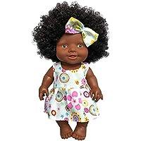 Per Muñeca Reborn Silicona Muñeca Realista Regalo de Cumpleaños para Niños Muñeca Africana Adornos de Casa