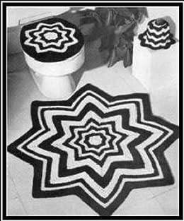Crochet Bathroom Set Pattern For Crochet Rug Toilet