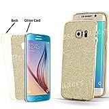 Ultra Thin Transparent TPU Gel Schutzhülle Samsung Galaxy S7s7edge S6s6edge S5J3J5A3, Gold(Bling Glitter Back), Samsung Galaxy J5