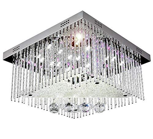 Cambiare colore led cristallo lampadario plafoniera lampadari soffitto luce sospensione 40x40cm 5xG9 incl. Led Lampadini & telecomando