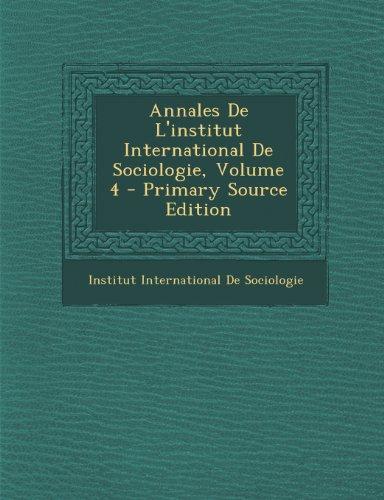 Annales de L'Institut International ...