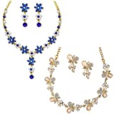 Best Necklace Set Of 2 - Om Jewells Gold Plated Combo of 2 Flower Review