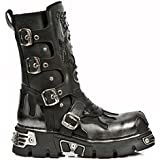 New Rock M.600-S1 Metallic Leather boots