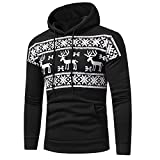 Mens Christmas Hooded Sweatshirt LSAltd Frauen Xmas Elk Schneeflocke Winter Print Hoodie Sweatshirt Langarm Kapuzenpullover Solide Jacke Tops Mantel Tunika Outwear Mit Tasche Plus Größe M-3XL