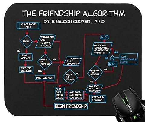 Touchlines - The Friendship Algorithm Mauspad für Gaming und Grafikdesign 230x190x5mm Black (Film Friendship)