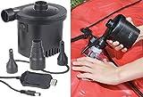 infactory Pumpe: Akku-Luftpumpe mit 3 Ventil-Aufsätzen und USB-Ladekabel, 200 l/Min. (Elektrische Luftpumpen)