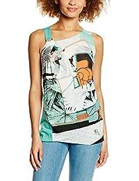 SIDECAR, ABRIL-V16 - Camiseta De Tirantes Con Cuello Asimetri para mujer