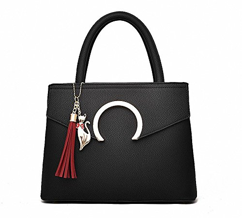 AILEESE, Borsa a mano donna nero Black medium Black