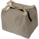 Bolsa mas guapo - SODIAL(R) Bolsa de almuerzo Bolsa termica aislada Bolsa de picnic portatil Caja del almuerzo de almacenamiento cremallera (Gris)
