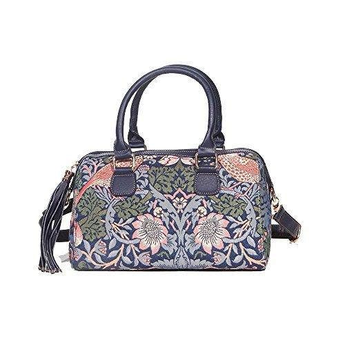 Signare sac d'épaule à poignée tapisserie mode femme Fraise voleur bleu