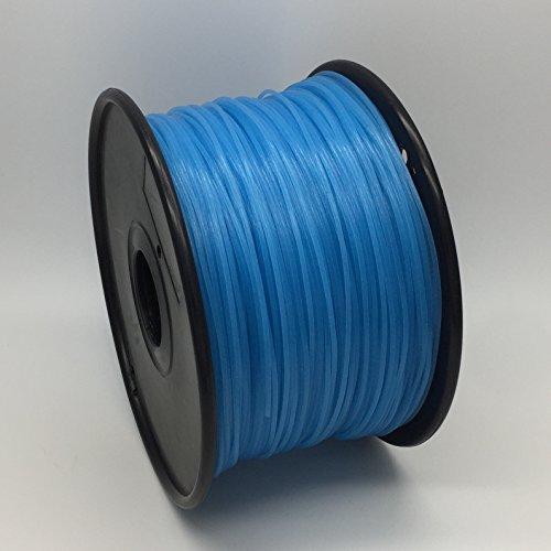 PLA 1.75mm (20 Metros) Calidad premium filamento de pluma de impresión 3D. 30+ suministros exactos de la impresora 3D de la precisión alta de los colores (Brillo UV Azul)