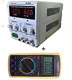 DOBO® Alimentatore + tester multimetro / Alimentatore Stabilizzato da banco Trasformatore corrente professionale regolabile 30V e 5A + Multimetro Digitale DISPLAY GIGANTE