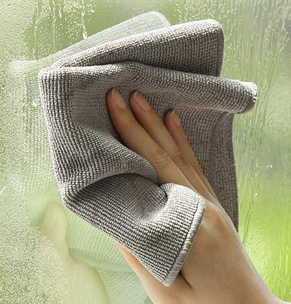 XXCKA Cleaning Rag Kitchen Dishwashing Household Chores Table Coral Fleece Scouring Square Gray 2 Strips30 * 30Cm