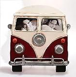 Metall Rahmen Bus Vorderseite rot Bilderrahmen Nostalgie 21 x 22 cm
