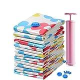 Amoyie 15tlg Set Praktisches Vakuumbeutel Kleiderbeutel Aufbewahrungsbeutel Vakuum-Platzsparer für Bettsache und Kleidungen mit Handpumpe