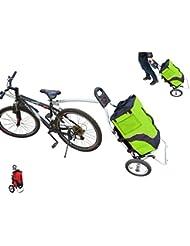 Polironeshop Geko Chariot remorque pour vélo, bicyclette, chariot pour faire ses courses, porte courses, porte packs, cyclotourisme