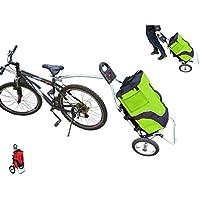 Carro Polironeshop Geko para bicicleta, ideal pra llevar la compra y como portabultos para cicloturismos, verde